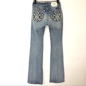 """Miss Me Mid-Rise Boot Cut Jeans size 28 Inseam 33"""""""
